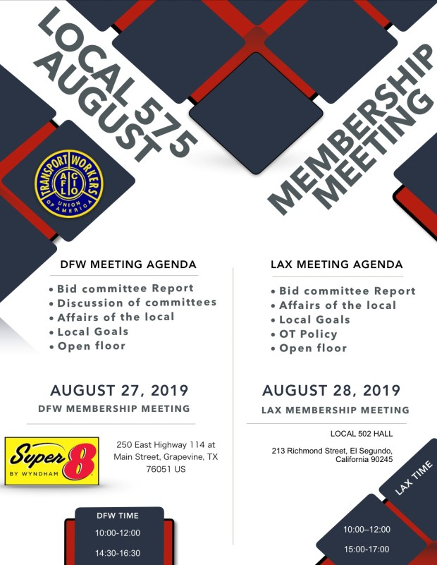 August Membership Meeting 2019 Post